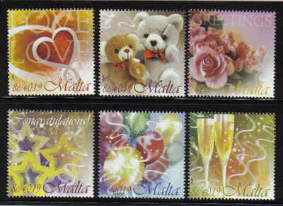 MALTA STAMPS SG 1557-62 2007 Occasions greetings stamps - mint