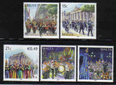 MALTA STAMPS SG 1569-73 2007 Maltese bands - mint