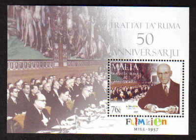 MALTA STAMPS SG 1582 MS 2007 50th Anniversary of the treaty of Rome - mint