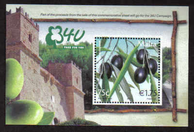 MALTA STAMPS SG 1583a MS 2007 Tree for you - mint