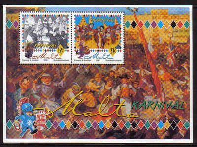 MALTA STAMPS SG 1200 MS 2001 Old fashioned Clowns - mint
