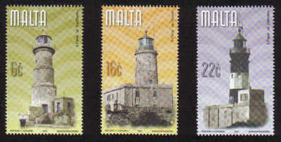 MALTA STAMPS SG 1201-03 2001 Maltese lighthouses - mint