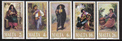 MALTA STAMPS SG 1204-08 2001 Paintings - mint
