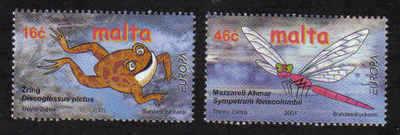 MALTA STAMPS SG 1212-13 2001 Europa Pond life - mint