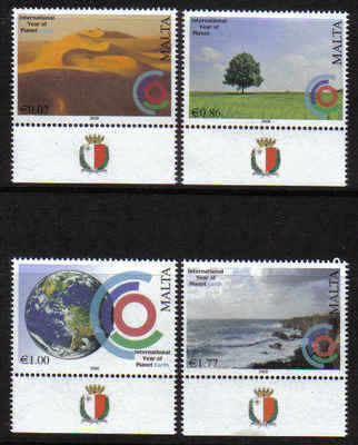 Malta Stamps SG 1599-1602 2008 International year of planet earth - MINT  (