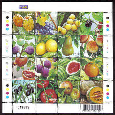 MALTA STAMPS SG 1519-34 2007 Maltese fruits - mint