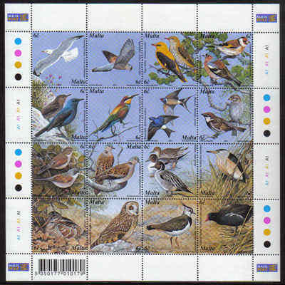 MALTA STAMPS SG 1214-29 2001 Maltese birds - mint