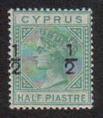 Cyprus Stamps SG 025 1882 1/2-1/2 - MLH (a546a)