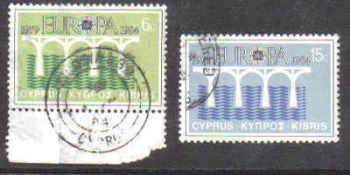 Cyprus Stamps SG 632-33 1984 Europa bridge - USED  (b545)