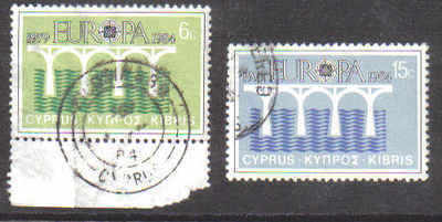 Cyprus Stamps SG 632-33 1984 Europa bridge - USED  (b545)