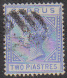 Cyprus Stamps SG 013 1881 Two Piastres - USED (d214)