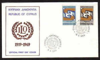 Cyprus Stamps SG 327-28 1969 International Labour Organisation - Official FDC (a620)