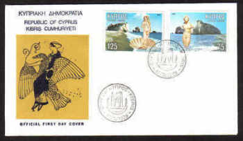 Cyprus Stamps SG 518-19 1979 Aphrodite - Official FDC