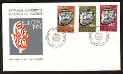 Cyprus Stamps SG 423-25 1974 Europa Sculpture - Official FDC (a622)