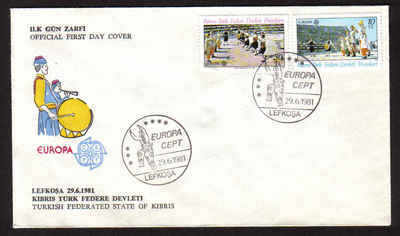 North Cyprus Stamps SG 106-107 1981  Europa  Folklore - Official FDC