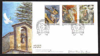 Cyprus Stamps SG 692-94 1986 Christmas - Official FDC