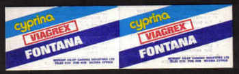 Cyprus Stamps Advertising booklet - Cyprina Viagrex Fontana MINT (a627)