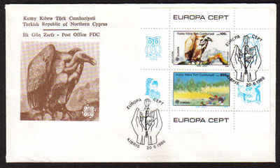 North Cyprus Stamps SG 187 MS 1986 Europa - Official FDC (a617)