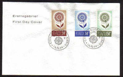 Cyprus Stamps SG 249-51 1964 Europa Flower - Unofficial FDC (a652)