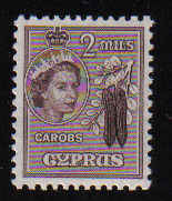 Cyprus Stamps SG 173 1955 2 Mils - MLH