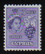 Cyprus Stamps SG 174 1955 3 Mils - MLH