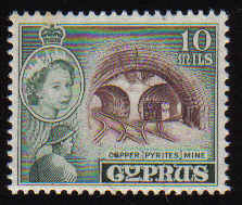 Cyprus Stamps SG 176 1955 QEII 10Mils - MINT