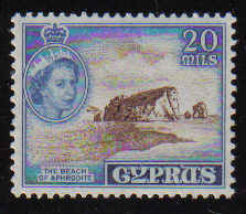 CYPRUS STAMPS SG 178 1955 QEII 20 MILS - MLH