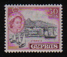 CYPRUS STAMPS SG 180 1955 QEII 30 MILS - MLH
