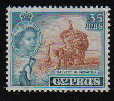 CYPRUS STAMPS SG 181 1955 QEII 35 MILS - MLH