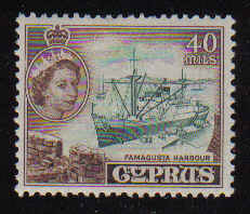 CYPRUS STAMPS SG 182 1955 QEII 40 MILS - MLH