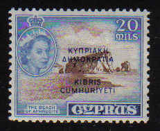 Cyprus Stamps SG 193 1960 20 Mils - MLH