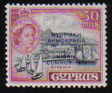 Cyprus Stamps SG 195 1960 30 Mils - MINT