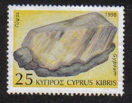 Cyprus Stamps SG 936 1998 25c Geology & Minerals Gypsum - MINT