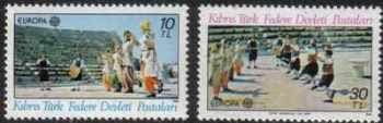 North Cyprus Stamps SG 106-07 1981 Europa Folklore  - MINT