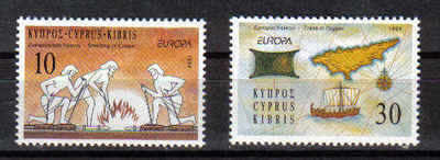 Cyprus Stamps SG 847-48 1994 Europa Discoveries - MINT