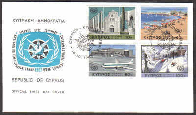 Cyprus Stamps SG 309-12 1967 Tourist year - Official FDC