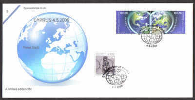 Cyprus Stamps SG 1186-87 2009 Planet Earth - Cachet Unofficial FDC (a805)