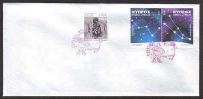 Cyprus Stamps SG 1188-89 2009 Europa Astronomy - Unofficial FDC (a822)