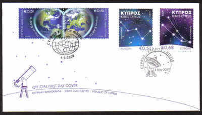 Cyprus Stamps SG 1186-87 and 1188-89 2009 Europa Astronomy and Planet Earth