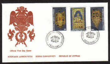 Cyprus Stamps SG 564-66 1980 Christmas - Official FDC (a826)