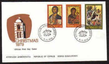 Cyprus Stamps SG 533-35 1979 Christmas Icons - Official FDC (a825)