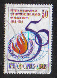 Cyprus Stamps SG 959 1998 Human Rights - USED (a870)