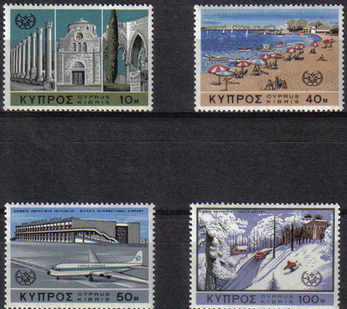 Cyprus Stamps SG 309-12 1967 Tourist Year - MINT