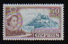 Cyprus Stamps SG 183 1955 QEII 50 Mils - MINT