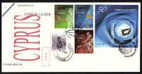 Cyprus Stamps SG 1190-92 and MS 1193 2009 all 1st of June isssues - Cachet Unofficial FDC (a908)