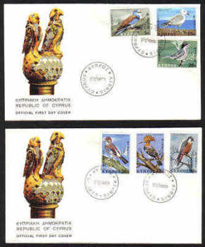 Cyprus Stamps SG 334-39 1969 Birds - Official FDC