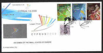Cyprus Stamps SG 1190-92 2009 XIII Games of the Small States of Europe - Cachet Unofficial FDC (a922)