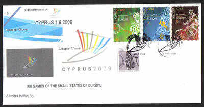 Cyprus Stamps SG 1190-92 2009 XIII Games of the Small States of Europe - Ca