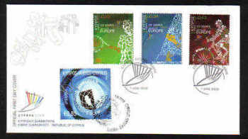 Cyprus Stamps SG 1190-92 and MS 1193 2009 XIII Games and Cyprus Philatelic Society  - Unofficial FDC - (a914)