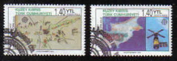 North Cyprus Stamps SG 0620-21 2006 50th Anniversary of the first Europa stamp - Used (b164)